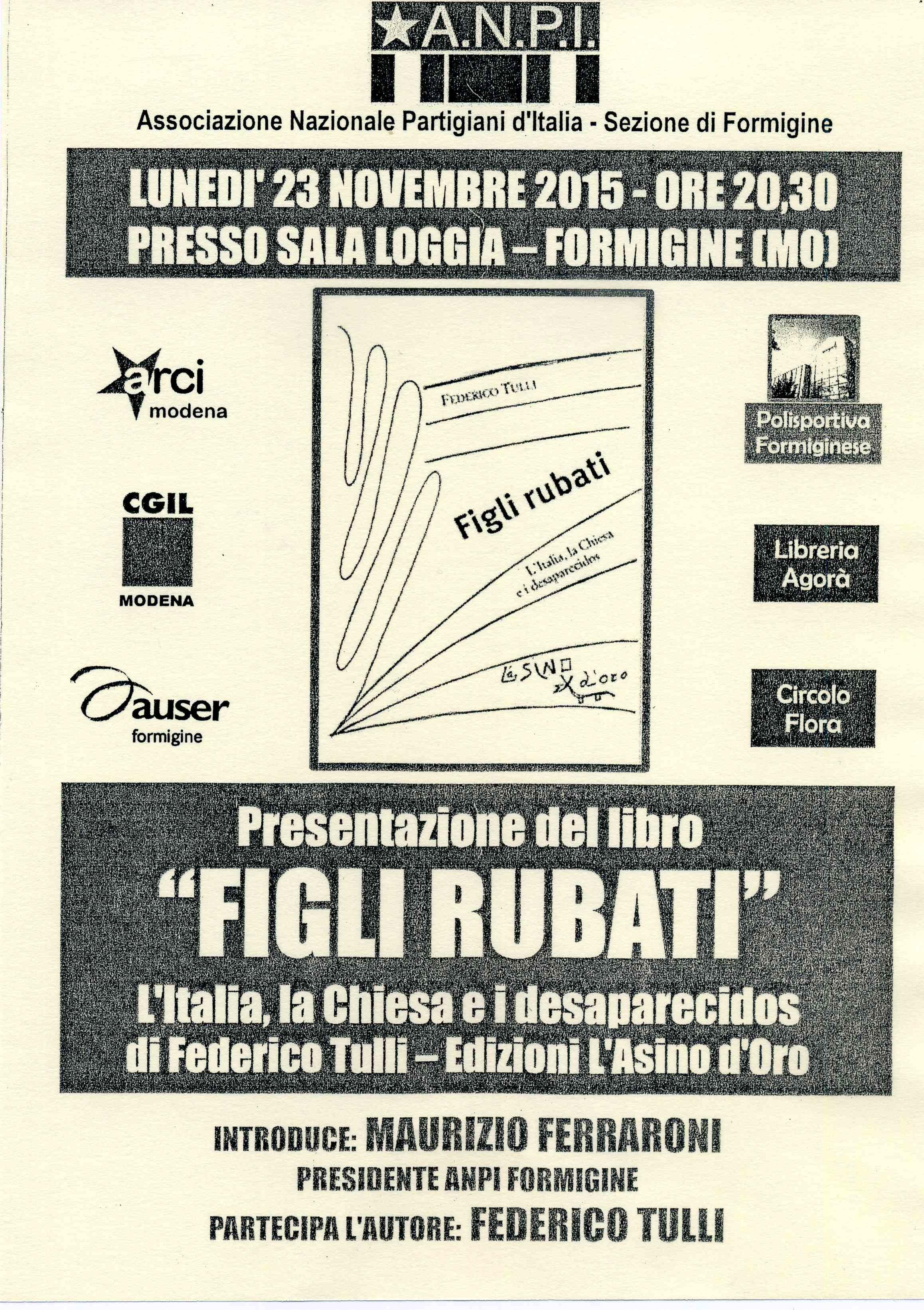 LIBRO FIGLI RUBATI FORMIGINE585